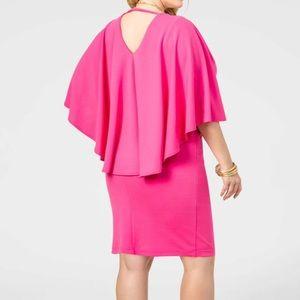 Womens Ashley Stewart pink cape dress size 26